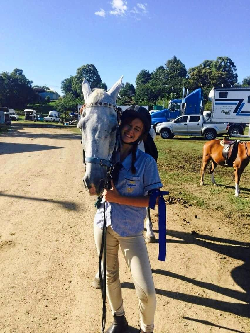 LIFE SAVER: Samantha and her rescue horse Sarge, who she not only nursed back to health, but who helped pull her from the depths of severe helplessness after horrific bullying.