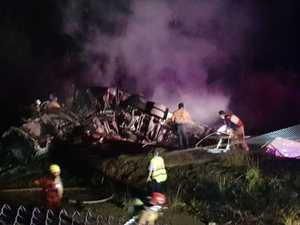 Driver escapes truck fire