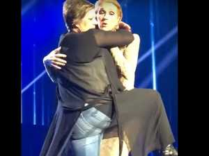 Celine Dion humped by eager fan on stage