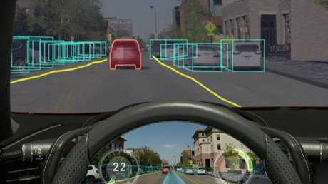 Autonomous cars will need to process several scenarios at once. Picture: Supplied