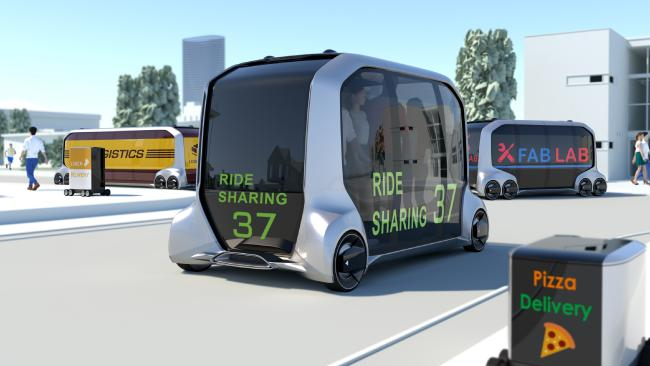 Toyota's driverless ride sharing concept vehicle. Pic: Supplied.