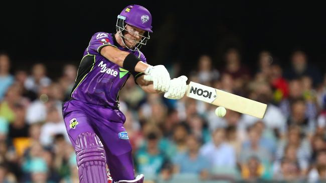 BRISBANE, AUSTRALIA — JANUARY 10: D'Arcy Short of the Hurricanes bats during the Big Bash League match between the Brisbane Heat and the Hobart Hurricanes at The Gabba on January 10, 2018 in Brisbane, Australia. (Photo by Chris Hyde/Getty Images)