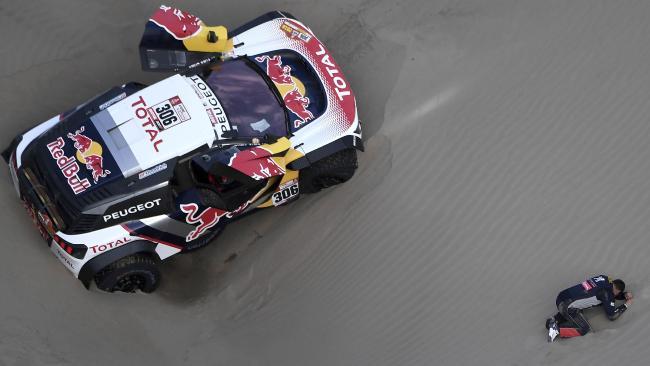 Sebastien Loeb's Peugeot is out of the Dakar Rally.