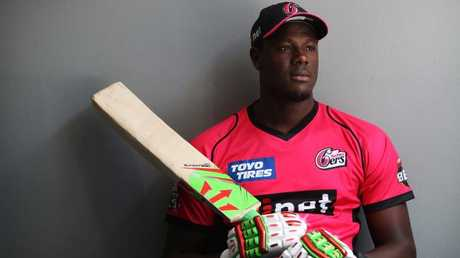Carlos Brathwaite will sport the magenta of the Sydney Sixers. Picture: Brett Costello