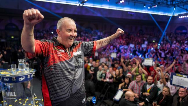 Darts legend Phil Taylor is on his farewell tour.