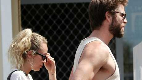 Miley Cyrus and Liam Hemsworth have been enjoying an extended break Down Under with family and friends. Picture: Nigel Hallett.