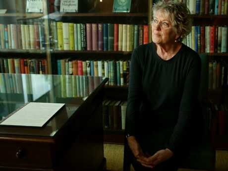 Germaine Greer attends the announcement of Melbourne University acquiring her lifetime archive.