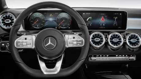 Mercedes-Benz unveiled its A-Class interior. Pic: Supplied.