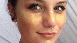 Madeline, 20, was involved in a violent incident at a NZ festival after she was groped. She's now organising a protest with her friend Jolene (who designed the glitter outfit) about consent. Picture: Caters News Agency