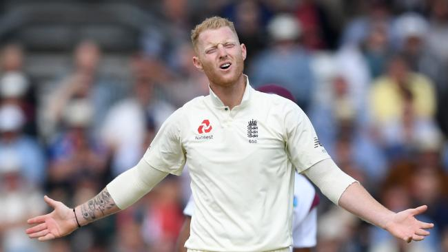 LEEDS, ENGLAND — AUGUST 26: Ben Stokes of England reacts after bowling during day two of the 2nd Investec Test between England and the West Indies at Headingley on August 26, 2017 in Leeds, England. (Photo by Gareth Copley/Getty Images)