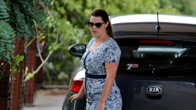 Greens senator Sarah Hanson-Young at her home in Adelaide. Picture: Kelly Barnes/The Australian