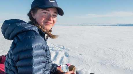 Jade Hameister during Greenland crossing.
