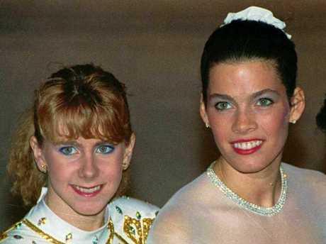 Tonya Harding, left, and Nancy Kerrigan at the 1992 U.S. Figure Skating Championships in Orlando, Fla. On Saturday, July 27, 2013