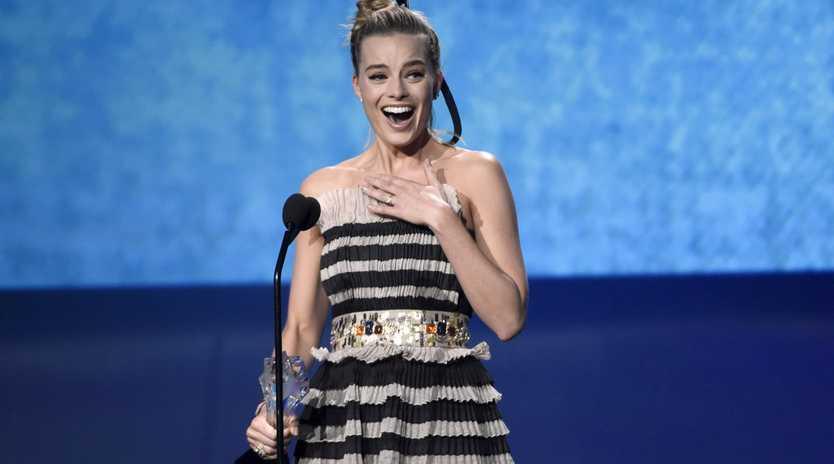 Margot Robbie at last week's Critics' Choice Awards.