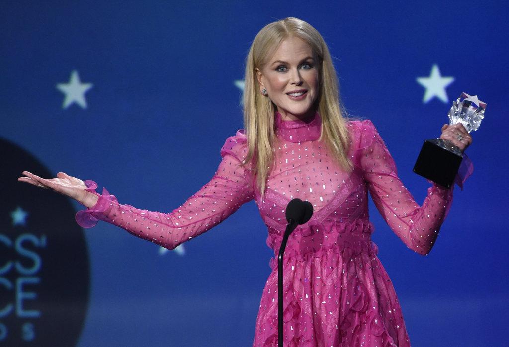 Nicole Kidman accepts her award.