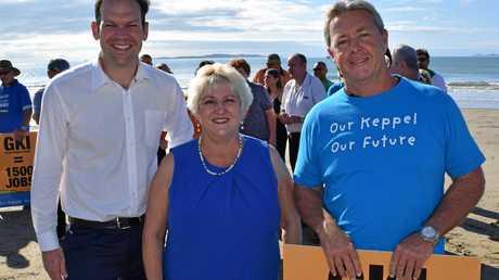 Senator Matt Canavan, Member for Capricornia Michelle Landry and Great Keppel Island Hideaway partner Sean Appleton.