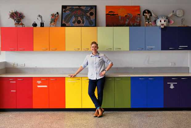 NEW FOCUS: Rockhampton artist Erin Dunne on her last day as a full-time art teacher at Emmaus College. Erin is focusing on her own art practice this year instead of teaching full-time but may do some relief teaching.