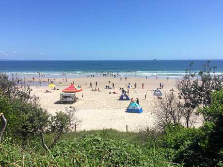 PICTURE PERFECT: Main Beach, Byron Bay, January 10, 2018.