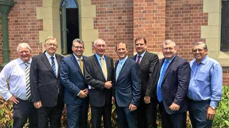 VALE: Past and present politicians attended the funeral of Richard George