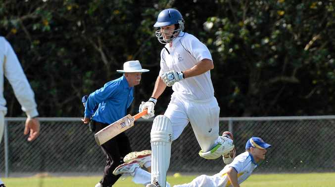 ON THE RUN:  Maroochydore batsman Josh Peters in action against Nambour.