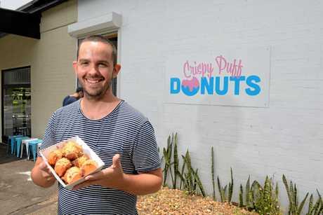 GREEK CLASSIC: Matt Tsalikas has opened Crispy Puff Donuts beside his restaurant Arcadia.