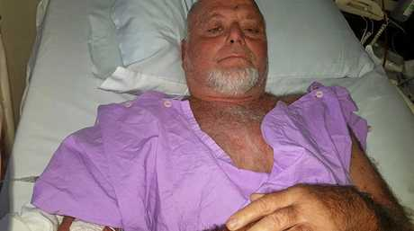 CLOSE CALL: David Creighton, 63, was infected by a flesh eating disease after swimming in Jerusalem Creek at Black Rock camping ground.