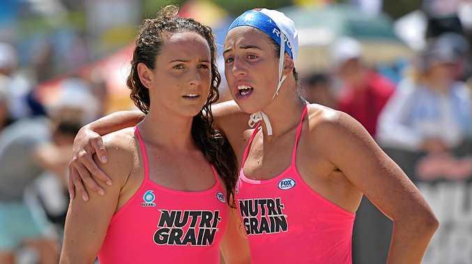 Kellogs's Nutri-Grain Ironman and Ironwoman round two at Coolum Beach.Noosa Ironwomen Jordan Mercer and Lana Rogers.