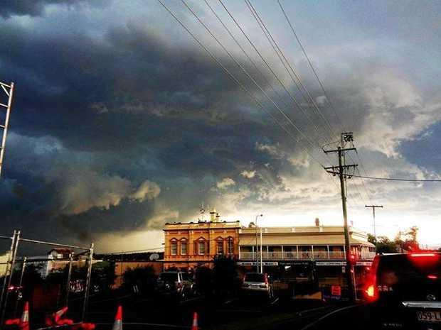 Katrina M Hall: Storm over Gympie.