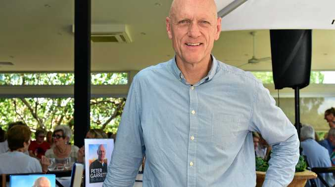 USEFUL OCCASION: Peter Garrett, pictured at Noosa, is one of many prominent Australians who have used Australia Day to promote Aboriginal concerns.