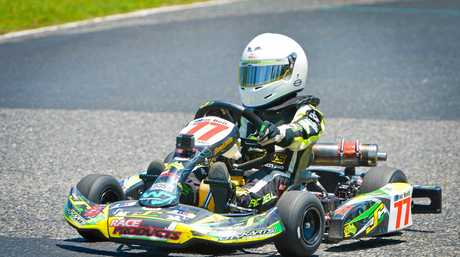 Zac Bell at the Gladstone Kart track.