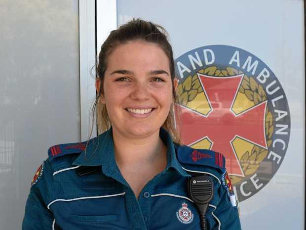 Warwick paramedic Lizzy Cole.