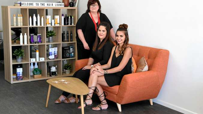 NEW SALON: Stephanie Cooper, Aliesha Conway and Stevie Jane at The Hair Lounge in Bourbong Street.