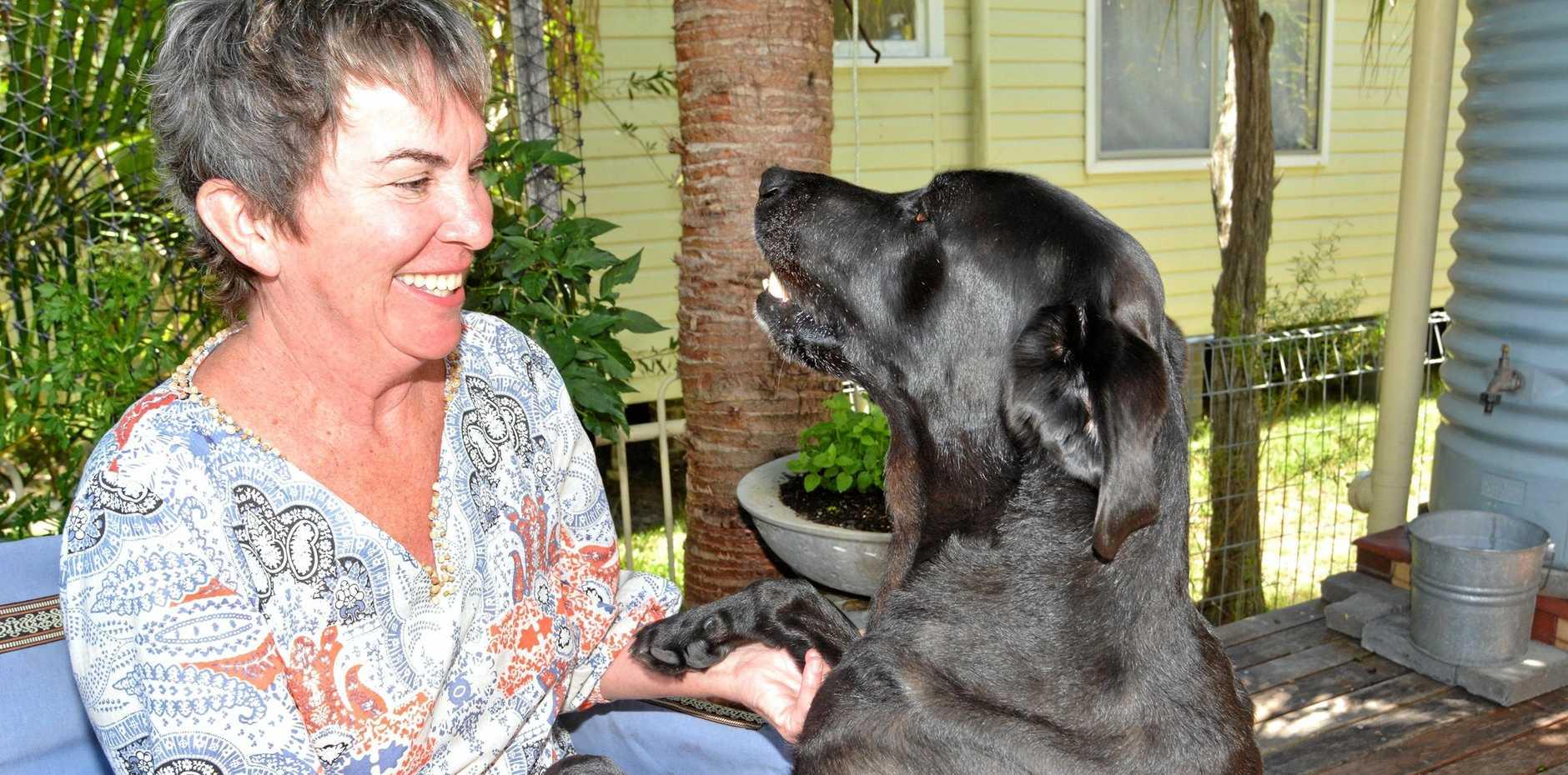 Guide Dogs Australia speaker Bev Larsson enjoys life with Henry.