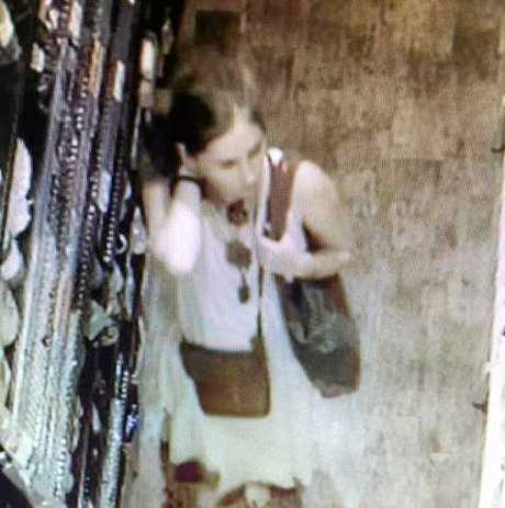 CCTV footage has been released of the woman police believe can help in relation to the theft of health products from Go Vita in Grafton Shoppingworld.