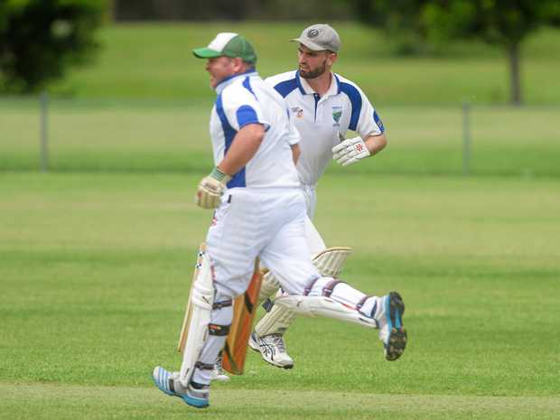 START STRONG: Dane Mitchell (right) is hoping Harwood will start 2018 with a win against Iluka.