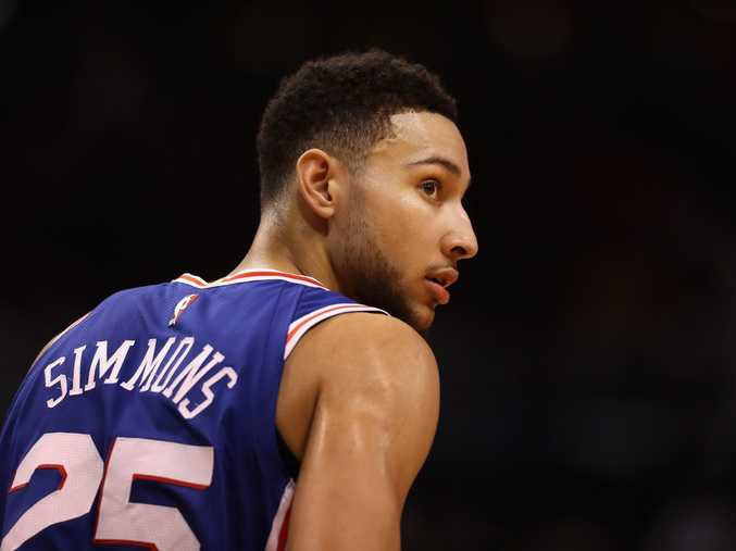 Ben Simmons in action for the 76ers.