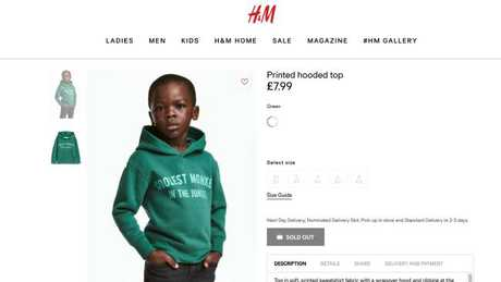The H&M hoodie which caused the initial controversy.