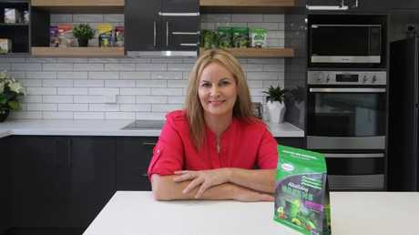 Gold Coast exporter Morlife, which markets so-called functional foods, such as chia seeds, is kicking export goals with its first orders for Iran. Co-owner Cheryl Stewart in the new lab, kitchen area. Picture: Glenn Hampson