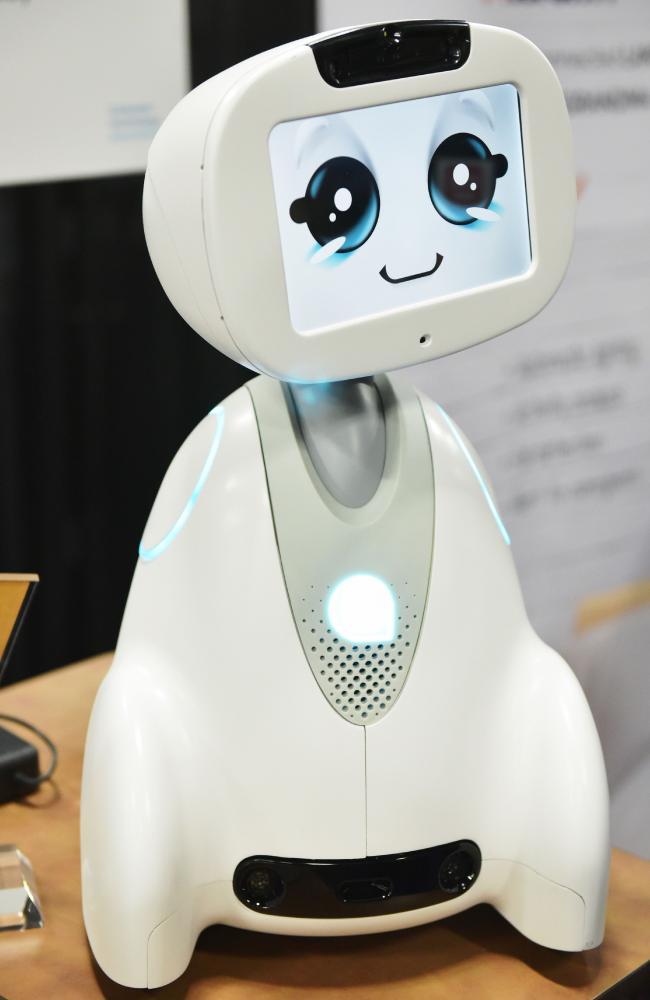 Buddy the companion robot by Blue Frog Robotics. Photo: AFP PHOTO / MANDEL NGAN