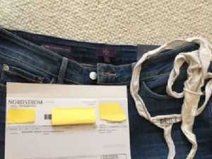 Woman's revolting find in new jeans