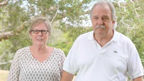 """""""Jason has not been seen by anyone since that night and there have been no signs of life,"""" Coroner Lock said. Debra and Lester Marriage (pictured) believe he was murdered. Picture: Richard Gosling."""