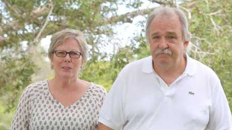 Debra and Lester Marriage believe someone on the Gold Coast knows about their son's disappearance. Picture: Richard Gosling.
