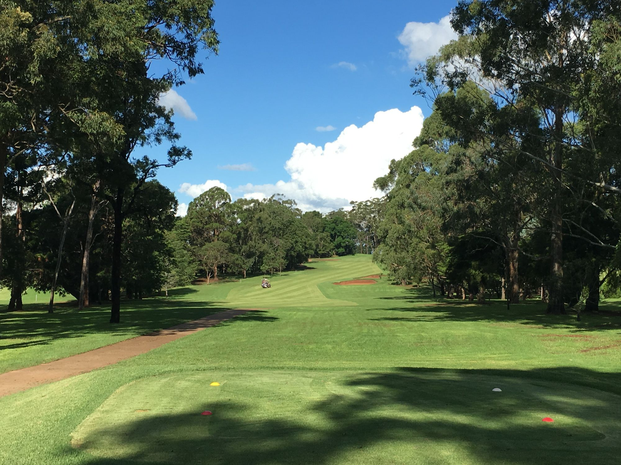 Lush, green fairways, trees swaying in the breeze, blue skies overhead - Toowoomba Golf Club Middle Range lays on the perfect day for golf.