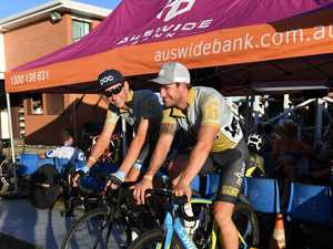 CYCLING SPECTACULAR: Dylan Newbery and Ben Price at