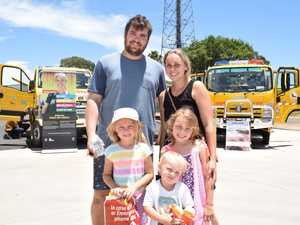Tom, Ayva, Angus and Lily Sharman with Bec Hoffman at