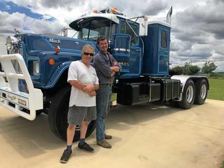 COOL TRUCK: Glen Beutel (left) and Fergus Fernan with the truck.
