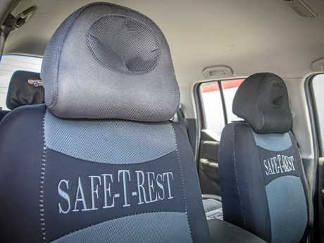 The headrests are designed to minimise injury