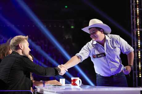 Eton's Damien Agius made it through his X Factor audition into the Bootcamp stage after impressing judge Ronan Keating.