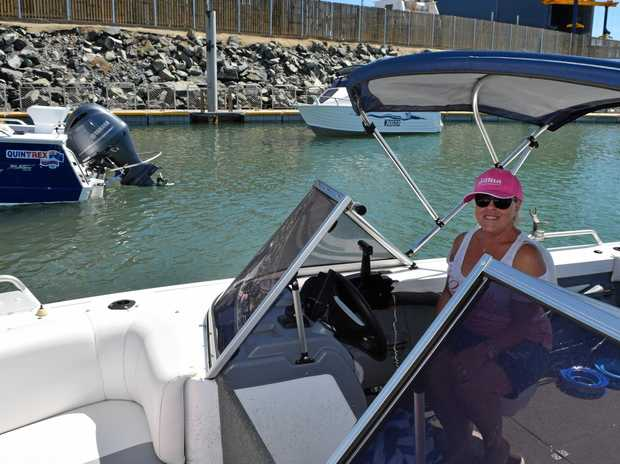 Rural View resident Christina Harrison heading out to on the water on her new boat.
