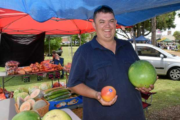 EYES ON WARWICK: Nick Minchell is chuffed to get his new venture, Nick's Mobile Fruit and Veg Barn on the road.